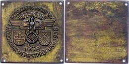 """1219 NSKK, Nichttragbare Teilnehmerplakette """"Motorgruppe Nordmark - Nordmark Herbstprüfung 23.10.1938 - Hamburg - Lübeck - Army & War"""