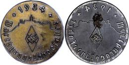 """1220 Plakette """"Wartburggeländefahrt 1934"""", 11,13 G, Durchmesser Ca. 80 Mm, Zustand II.  II - Army & War"""