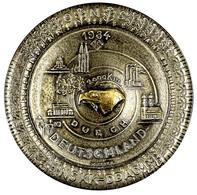 """1222 Teilnehmer Plakette In Form Eines Autoreifens """"2000 Km Fahrt Durch Deutschland"""" NSKK-DDAC 1934, Gewicht Ca. 247 G,  - Army & War"""