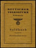1235 Kleiner Dokumentennachlass Schwarz, Mit Volkssturmausweis, Einberufungsbefehl, Uniformfoto Und Einkaufszettel, Wehr - Other