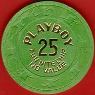 $25 Casino Chip. Playboy, Atlantic City, NJ. Fun Nite. K54. - Casino