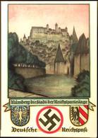 """2995 1936, Schmuckblatt-Telegramm """"Nürnberg Die Stadt Der Reichsparteitage"""" Mit Abb. """"Burg Und Wappen"""", Ungebraucht Mit  - Germany"""