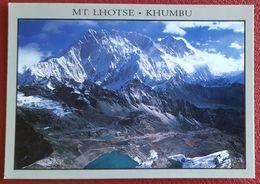 NEPAL - Mt. Lhose - Khumbu - Kongma Glacier & Lakes With Lhotse Ridge In The Background - Himalaya Nv - Nepal