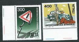 Italia, Italy, Italie 1984; Prevenzione Infortuni Stradali, Road Traffic Injury Prevention.Serie Completa Di Bordo.Nuovi - Accidents & Road Safety