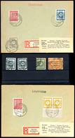 8245 15 Pf Im Doppelstück Und 20 Pf Auf Zwei Briefen Beide Geprüft Ströh, Sowie 48Ac Zweimal Gestempelt, Geprüft Ströh ( - Sowjetische Zone (SBZ)
