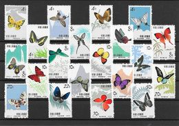 China 1963 Insects BUTTERFLIES ( 600 MICHEL EURO ) 20v MNH ** - Schmetterlinge