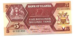 1987 Uganda 5 Shillings Banknote - Uganda