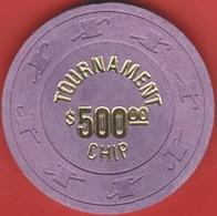 $500 Casino Chip. Vegas World, Las Vegas, NV. Tournament Chip. K57. - Casino