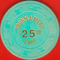 $25 Casino Chip. Vegas World, Las Vegas, NV. Tournament Chip. K58. - Casino