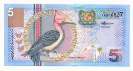 2000 Suriname 5 Gulden Banknote - Surinam