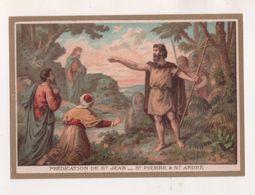 IMAGE PIEUSE ANCIENNE, PREDICATION DE SAINT JEAN, SAINT PIERRE A SAINT ANDRE -  MAISON DE LA BONNE PRESSE PARIS - DORURE - Images Religieuses
