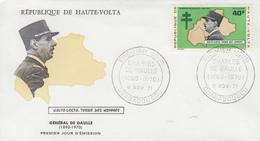 Enveloppe  FDC  1er  Jour    HAUTE  VOLTA    GENERAL  DE   GAULLE      1971 - De Gaulle (Général)