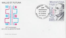 Enveloppe  FDC  1er  Jour    WALLIS  ET  FUTUNA    GENERAL  DE   GAULLE      1995 - De Gaulle (Général)
