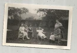 CARTE PHOTO , écrite , Vacances ARETTE , 1935 , Dans Le Pré De Laure - Femmes