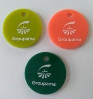Jeton De Caddie - Groupama - 3 Jetons Neufs - En Plastique - - Trolley Token/Shopping Trolley Chip