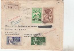 LETTRE REC AVION BRAZZAVILLE 10 DEC 46 QUARTIER GENERAL POUR BOUAR OUBANGUI CHARI        -                TDA238B - A.E.F. (1936-1958)