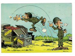 CPSM HUMOUR MILITAIRE DESSIN DE JEAN-POL - Künstlerkarten