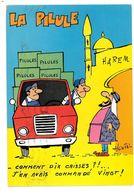 CPSM HUMOUR DESSIN DE HOUIU CAISSES DE PILULES - Künstlerkarten