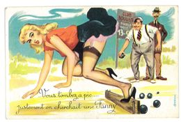 CPSM HUMOUR DESSIN DE ? ON CHERCHAIT UNE FANNY PIN-UP - Autres Illustrateurs