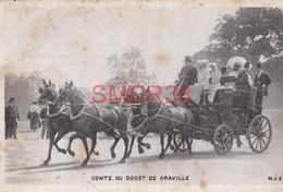CPA  Comte Du Douet De Graville - Taxi & Carrozzelle