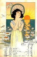 [DC11601] CPA - ART NOUVEAU - ILLUSTRATORE RAPHAEL KIRCHNER NON FIRMATA SERIE 620 - Viaggiata 1899 - Old Postcard - Kirchner, Raphael