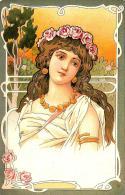 [DC11602] CPA - LIBERTY - DONNA - ROSE - PERFETTA - Non Viaggiata - Old Postcard - Illustratori & Fotografie