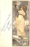 [DC11592] CPA - ART DECO WOMAN - KUNSTLER POSTKARTEN SERIE N° 1053 DIE 4 - Viaggiata 1901 - Old Postcard - Illustratori & Fotografie