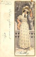 [DC11594] CPA - ART DECO WOMAN - KUNSTLER POSTKARTEN SERIE N° 1053 DIE 4 - Viaggiata 1901 - Old Postcard - Illustratori & Fotografie