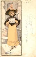 [DC11599] CPA - ART DECO WOMAN - KUNSTLER POSTKARTEN SERIE N° 1053 DIE 4 - Viaggiata 1902 - Old Postcard - Illustratori & Fotografie