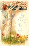 [DC11612] CPA - DONNA WOMAN FIORI - SERIE 160 - PERFETTA - Viaggiata 1902 - Old Postcard - Illustratori & Fotografie