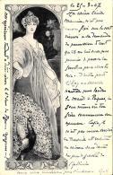 [DC11615] CPA - DONNA ELEGANTE CON PAVONE - PERFETTA - Viaggiata 1907 - Old Postcard - Illustratori & Fotografie