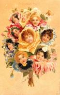 [DC11635] CPA - ART NOUVEAU - S'IL VOUS PLAIT 321 - PERFETTA - Viaggiata 1901 - Old Postcard - Illustratori & Fotografie