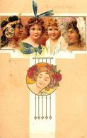 [DC11638] CPA - ART NOUVEAU - S'IL VOUS PLAIT 317 - PERFETTA - Viaggiata 1901 - Old Postcard - Illustratori & Fotografie