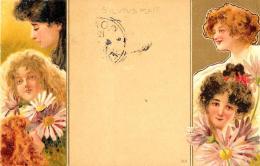 [DC11639] CPA - ART NOUVEAU - S'IL VOUS PLAIT 316 - PERFETTA - Viaggiata 1901 - Old Postcard - Illustratori & Fotografie