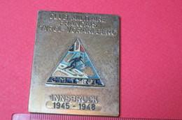 Médaille De Table Plaque Club Militaire Français Tyrol Vorarlberg C.M.T Tyrol 1945.1948.A Klammer Insbruck - France