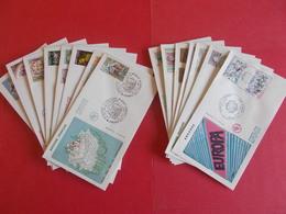 ANDORRE  1 Lot D'enveloppes 1er Jours De L' Année 1980 Et 1981 - Stamps