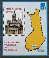 1988 MOZAMBIQUE BF 20** Exposition Philatélique Finlandia, Carte - Mozambique