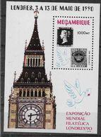 1991 MOZAMBIQUE BF 23** Exposition Philatélique Londres, Timbre Sur Timbre, Penny Black, Avec Trou, Hole - Mozambique