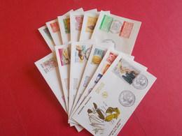 ANDORRE  1 Lot D'enveloppes 1er Jours De L' Année 1990 - Stamps