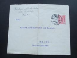 Österreich 1908 Privatumschlag Kabelfabrik Und Drahtindustrie Wien An Die Jute Spinnerei Und Weberei In Weida - 1850-1918 Imperium