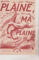 (GB21)plaine , Ma Plaine , Paroles FRANCIS BLANCHE , Musique LEON KNIPPER - Scores & Partitions