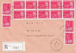 Env Reco Affr Y&T 1664 X 14 Obl MUTTERHOLTZ Du 24.3.1975 Adressée à Strasbourg - Elsass-Lothringen