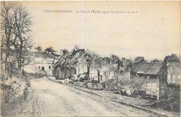CHIRY-OURSCAMPS: LA RUE DE L'EGLISE - Other Municipalities