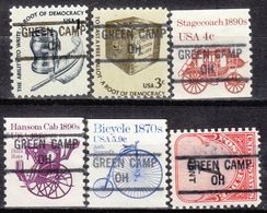 USA Precancel Vorausentwertung Preo, Locals Ohio, Green Camp 841, 6 Diff. - Vereinigte Staaten