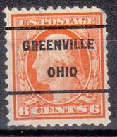 USA Precancel Vorausentwertung Preo, Locals Ohio, Greenville 209, Perf. 11x11, Stamp Thin - Vereinigte Staaten