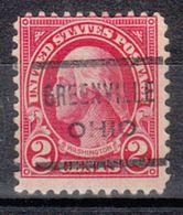 USA Precancel Vorausentwertung Preo, Locals Ohio, Greenville 634-622 - Vereinigte Staaten