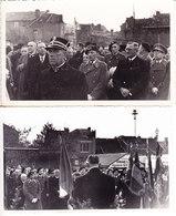 2 PHOTOS, Format Carte Postale Belgique, Commemoration, Militaires, Gendarme  (6AL573) - Guerre, Militaire