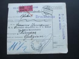Österreich 1911 Portomarke Nr. 36 Post Begleitadresse / Drucksache / Portofreie Dienstsache. Wien - Tlumacz Galizien - 1850-1918 Imperium