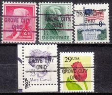 USA Precancel Vorausentwertung Preo, Locals Ohio, Grove City 821, 5 Diff. - Vereinigte Staaten