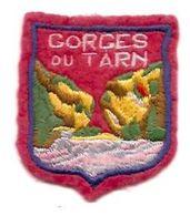 Cb2.h-  GORGES Du TARN Ecusson Blason à Coudre - Obj. 'Remember Of'